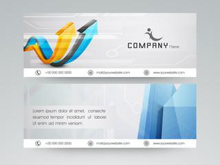 Website header or banner design for business.