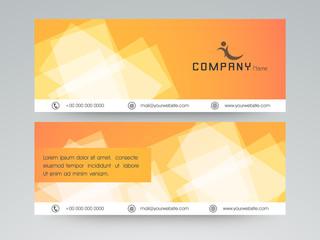 Website header or banner set for business.