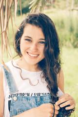 Natural teen girl portrait