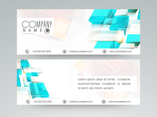Professional website header or banner set.