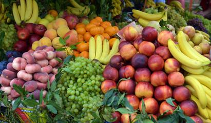 fruit market on display