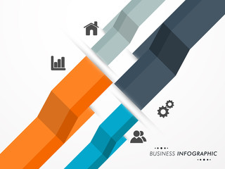 Business infographic layout with web icon.