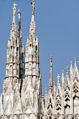 Towers of Cathedral Duomo, Milan, Italy