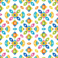 Colorful tileable pattern background