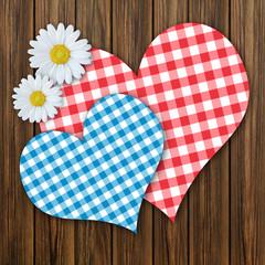 Herzen und Blumen