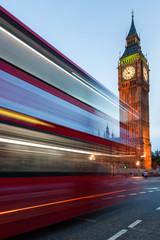 Big Ben and traffic on Westminster Bridge