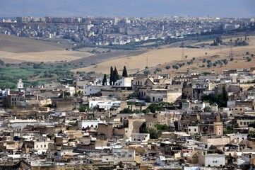 View of Fez medina (Old town of Fes)