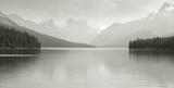 Canadian landscape with Maligne lake. Jasper. Alberta poster