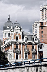 Old buildings in Madrid, Spain