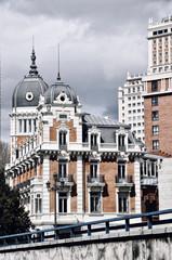 Old buildings in Madrid, Spain