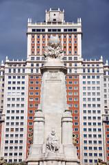 Statue of Miguel de Cervantes in Madrid, Spain