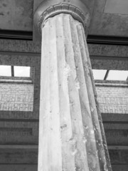 Bombed column in Berlin