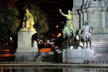 Statue of Don Quijote in Madrid, Spain