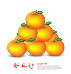 Chinese New Year Mandarin oranges