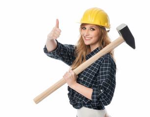 Handwerker mit Vorschlaghammer
