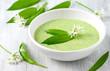Leinwanddruck Bild - Bärlauch-Suppe