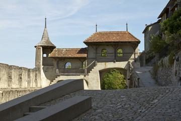 Medieval Gruyeres gate
