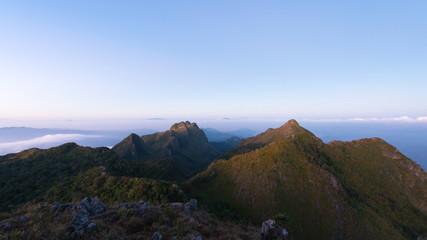 Karst topography landscape