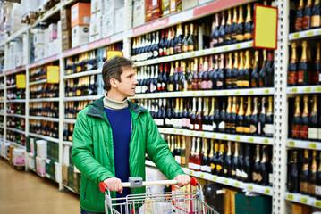 Man choosing wine