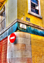 details from a building at the center of  Barcelona Spain. HDR