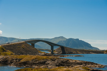 Road to heaven - view at Atlantic Road, Norway