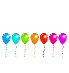 Set colorful balloons isolated on white background (3)