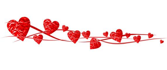 Banner aus roten Herzen
