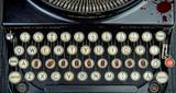 Old typewriter with terrorism