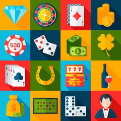Casino Flat Icons