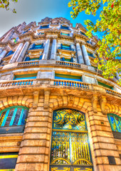 old building at the center of Barcelona in Spain. HDR