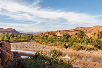 Ouarzazate (rivier) bij Ait Ben Haddou