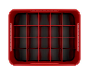 Red beer crate