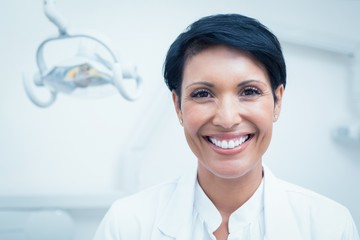 Close up portrait of female dentist