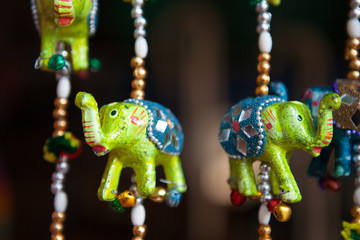 Colorful Indian Elephant Souvenirs