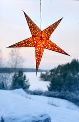 .Illuminated night star