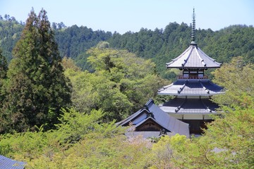 Temple in Yoshino, Japan