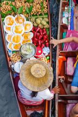 schwimmender Markt Damnoen Saduak in Thailand