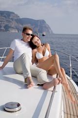Beautiful couple in honeymoon