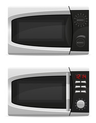 microwave oven with mechanical and electronically controlled vec