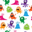 Seamless pattern with colorful cute creatures - 75998755