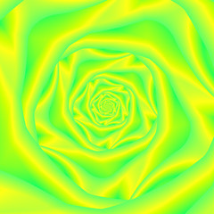 Rose Spiral in Yellow and Green