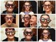 """famille""""grosses lunettes,marrantes"""""""