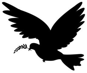 colombe de la paix portant un rameau d'olivier