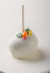 white chocolate cake pop