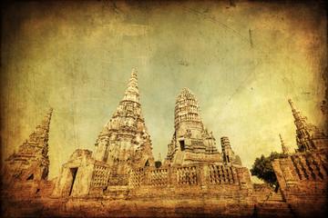 antik texturiertes Bild von Wat Phra Si Sanphet in Thailand