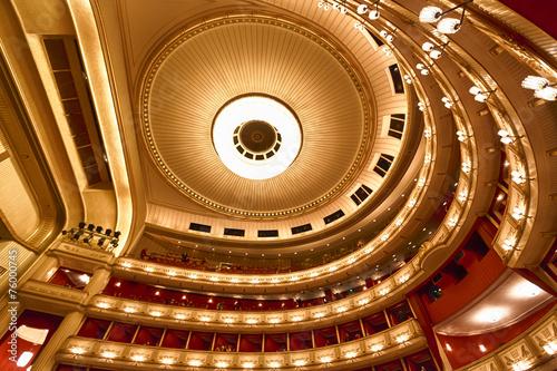 Leinwanddruck Bild Balconies of Vienna Opera House