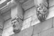 Sculptural detail of old building, Paris.
