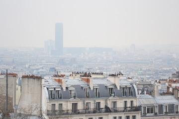 Skyline of Paris city.