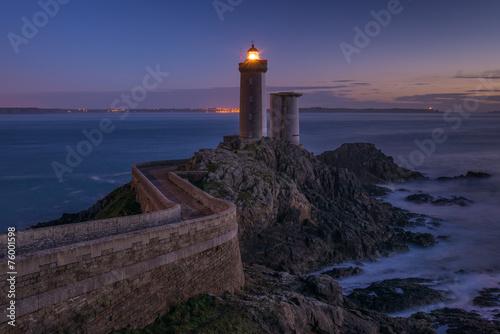 canvas print picture Phare du Petit Minou at sunset