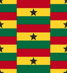 Ghana flag texture vector